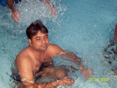 Mayank in pool